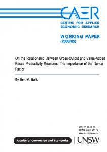 On the Relationship Between Gross-Output and Value-Added Based