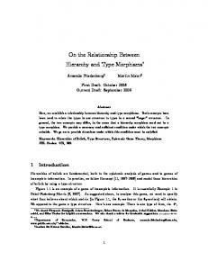On the Relationship Between Hierarchy and Type ... - Semantic Scholar