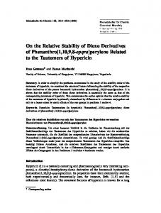 On the Relative Stability of Dioxo Derivatives of ... - Springer Link