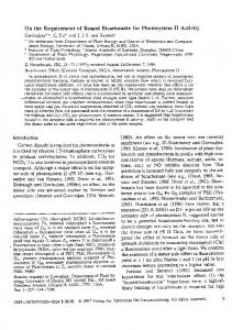 On the requirement of bound bicarbonate for photosystem II.