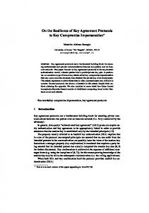 On the Resilience of Key Agreement Protocols to Key Compromise ...
