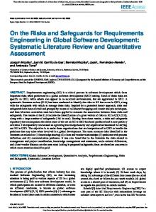 On the Risks and Safeguards for Requirements
