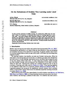 On the Robustness of Decision Tree Learning under Label Noise