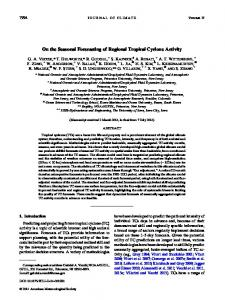 On the Seasonal Forecasting of Regional Tropical ... - AMS Journals