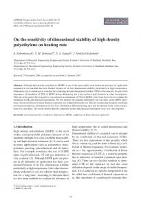 On the sensitivity of dimensional stability of high density polyethylene ...