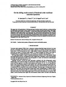 On the sliding-mode control of fractional-order nonlinear ... - UniCa