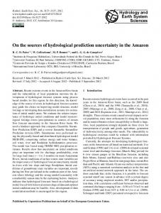 On the sources of hydrological prediction uncertainty in the ... - IRD