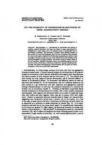 ON THE STABILITY OF HOMOGENEOUS SOLUTIONS TO SOME ...