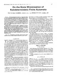 On the State Minimization of Nondeterministic Finite Automata