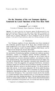 On the Structure of the von Neumann Algebras ... - Project Euclid