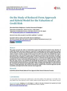 On the Study of Reduced-Form Approach and Hybrid Model for the ...