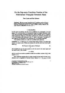 On the Sup-norm Condition Number of the Multivariate ... - CiteSeerX
