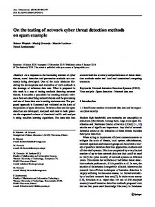On the testing of network cyber threat detection ... - Springer Link