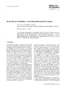On the theory of turbulence: A non eulerian renormalized expansion