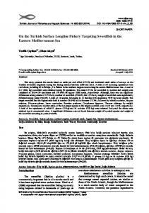 On the Turkish Surface Longline Fishery Targeting Swordfish in the ...
