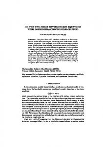 On the Two-Phase Navier-Stokes Equations with Boussinesq ... - MMA