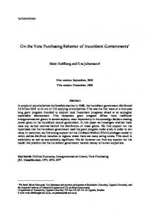 On the Vote Purchasing Behavior of Incumbent Governments - Core