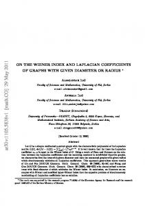 On the Wiener index and Laplacian coefficients of graphs with given ...