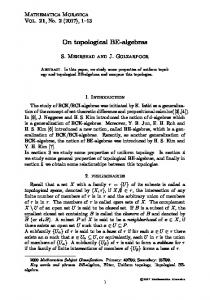 On topological BE-algebras