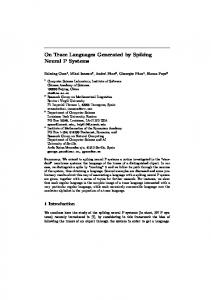 On Trace Languages Generated by Spiking Neural P Systems