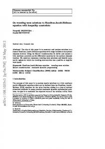 On traveling wave solutions to Hamilton-Jacobi-Bellman equation with ...