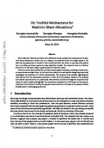 On Truthful Mechanisms for Maximin Share Allocations