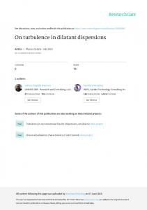 On turbulence in dilatant dispersions