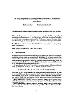 On two properties of enlargements of maximal ... - Semantic Scholar