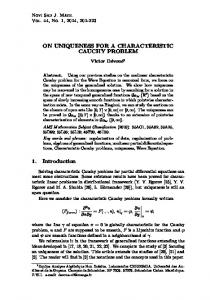 On uniqueness for a characteristic Cauchy problem - RIMS, Kyoto