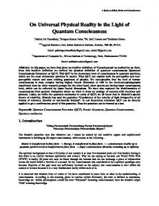 On Universal Physical Reality in the Light of Quantum ... - arXiv