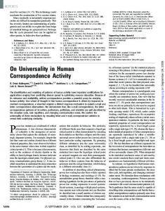 On Universality in Human Correspondence Activity - Northwestern ...