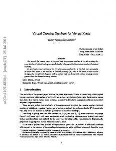 On Virtual Crossing Numbers for Virtual Knots