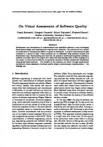 On Visual Assessment of Software Quality - e-Informatica Software ...