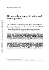 On wave dark matter in spiral and barred galaxies - arXiv