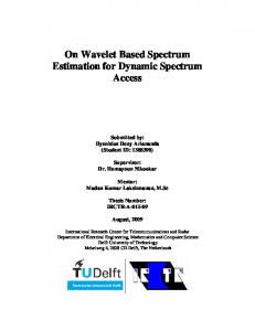 On Wavelet Based Spectrum Estimation for Dynamic Spectrum Access