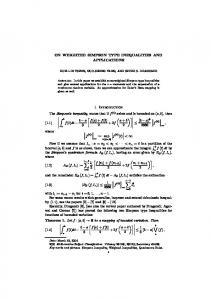 ON WEIGHTED SIMPSON TYPE INEQUALITIES AND ... - RGMIA