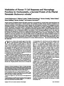 Onchocerca volvulus Secreted Protein of the Filarial Nematode ...