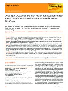 Oncologic Outcomes and Risk Factors for