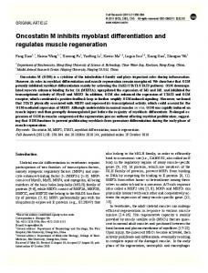 Oncostatin M inhibits myoblast differentiation and regulates ... - Nature