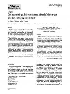 One anastomosis gastric bypass - Semantic Scholar