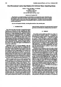 One-Dimensional Lattice Gas Models with Infinitely Many Absorbing ...