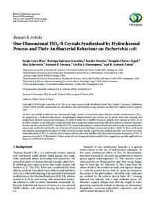 One-Dimensional TiO2-B Crystals Synthesised by Hydrothermal