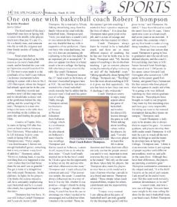 One on one with basketball coach Robert Thompson - WordPress.com