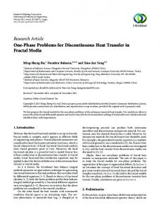 One-Phase Problems for Discontinuous Heat Transfer in Fractal Media