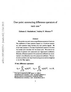 One-point commuting difference operators of rank one