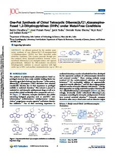 One-Pot Synthesis of Chiral Tetracyclic Dibenzo[b,f]