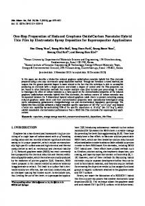 One-Step Preparation of Reduced Graphene Oxide ... - Springer Link