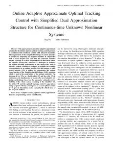 Online adaptive approximate optimal tracking control ... - IEEE Xplore