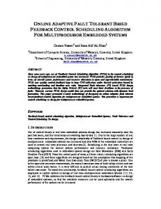 online adaptive fault tolerant based feedback control scheduling ...
