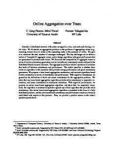 Online Aggregation over Trees - UT Computer Science
